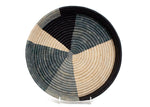 Opal Gray Color Blocked Raffia Tray