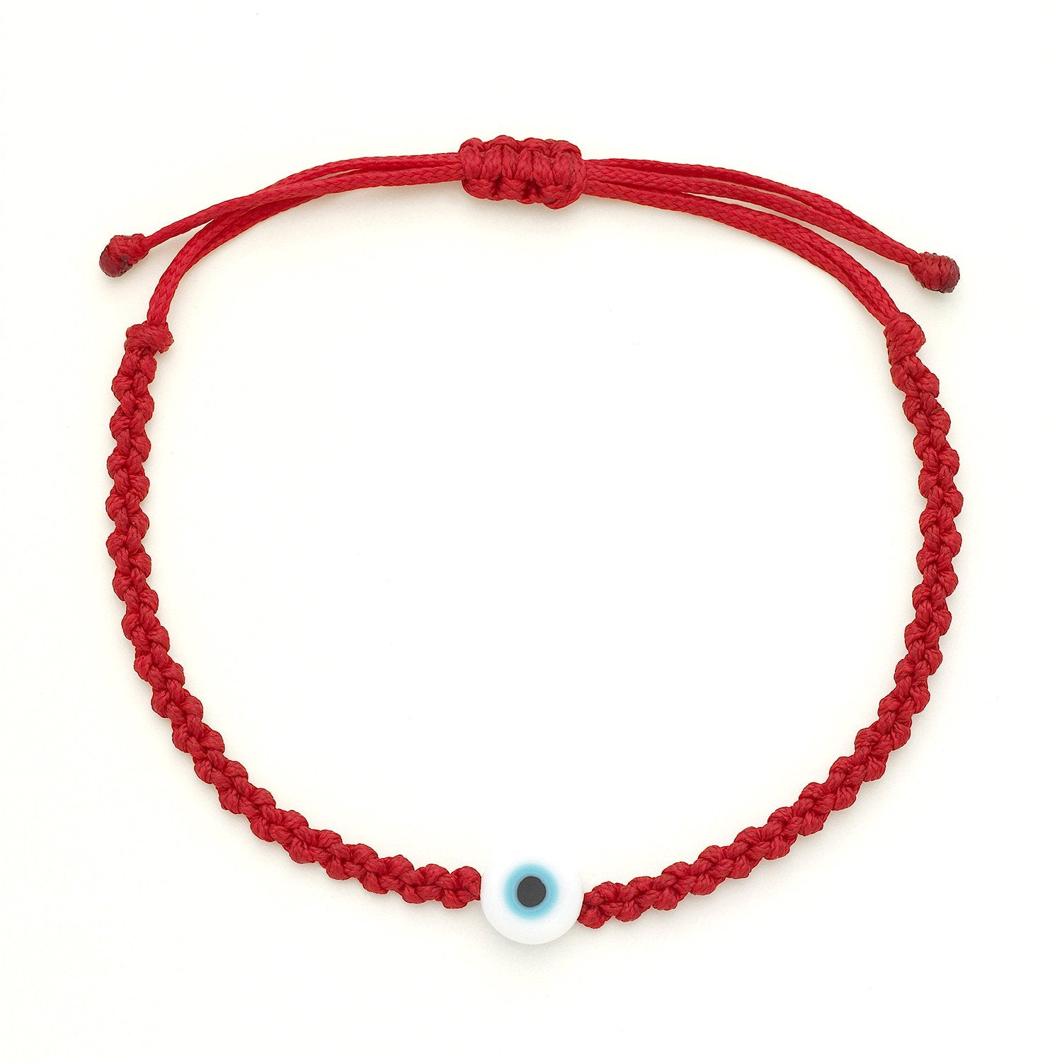Evil Eye Braided Bead Bracelet