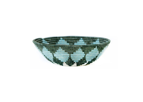 Large Silver Blue Hope Bowl