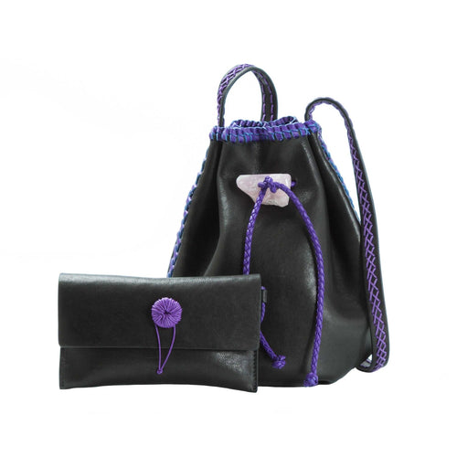 Nirmala Lux Leather  Eclipse and Purple