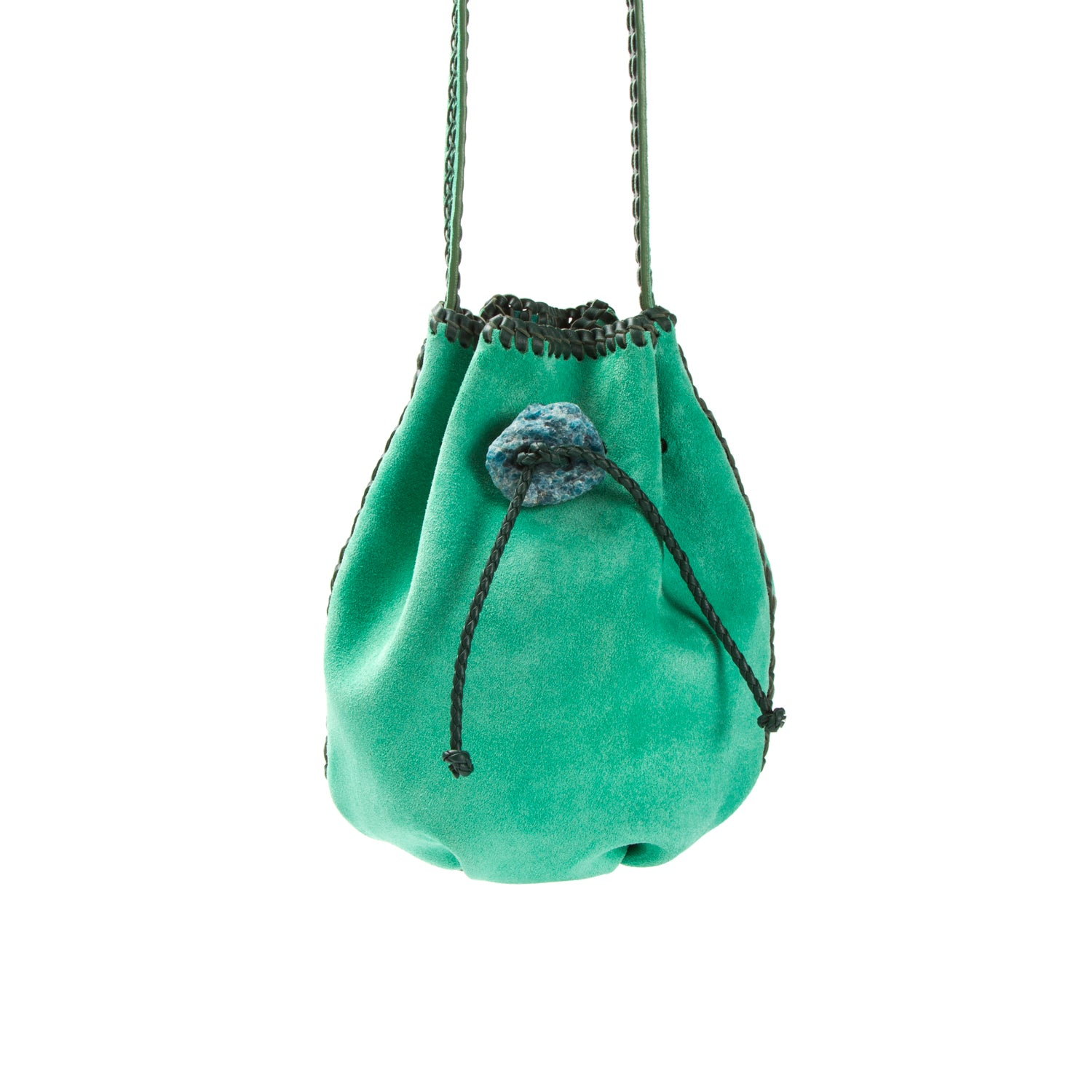Nirmala Suede Turquoise and Pine Green