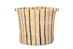 Cool Striped Raffia Basket
