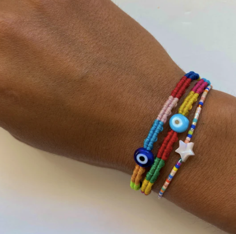Woven Braided Evil Eye Bracelet