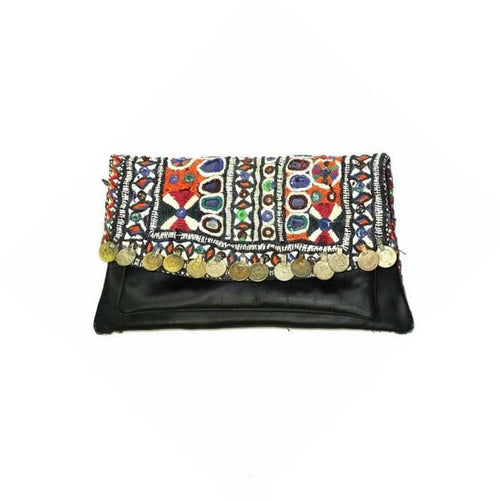BANJARA LEATHER CLUTCH