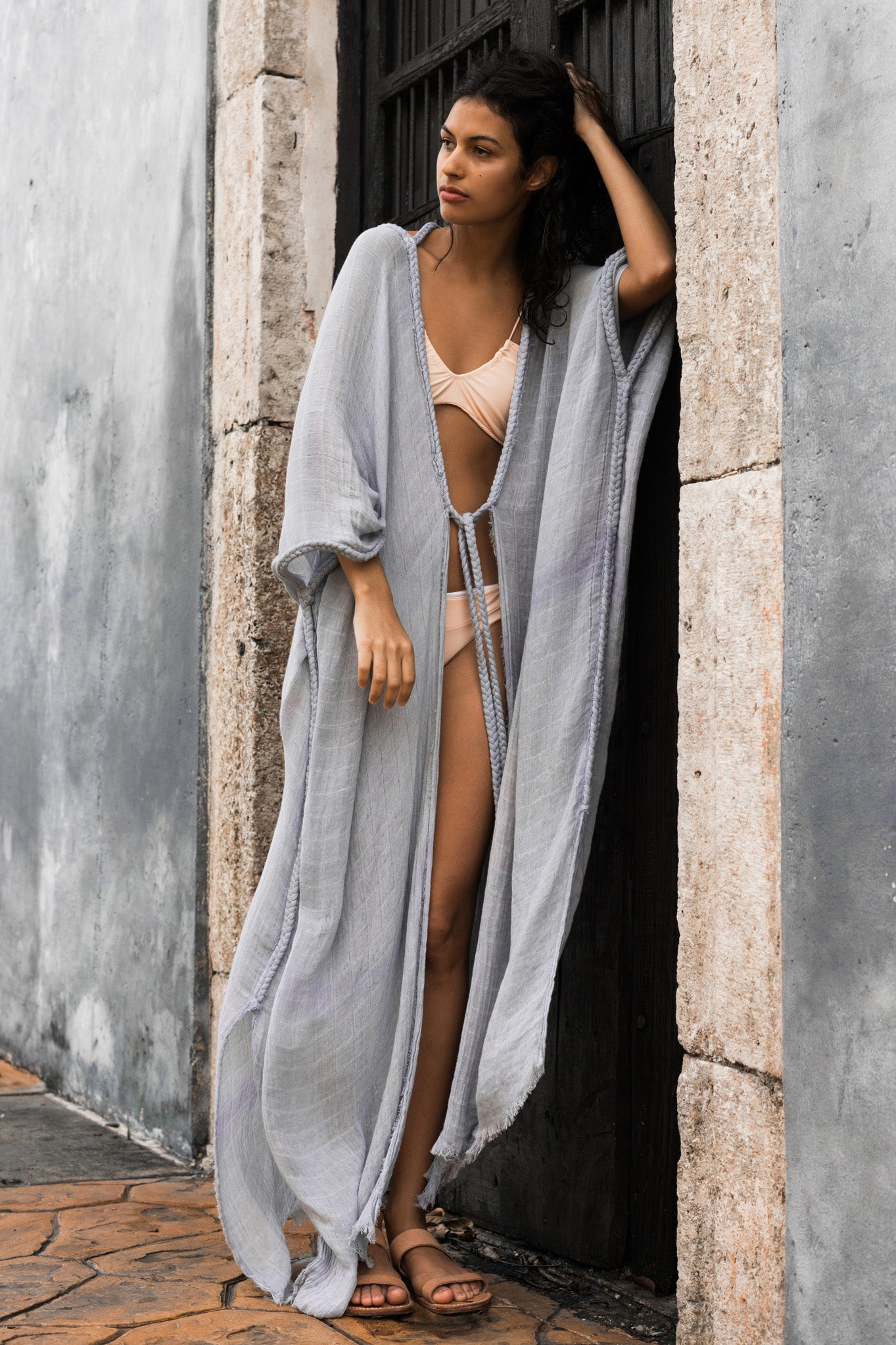 beach dress kaftan tulum long image cielo