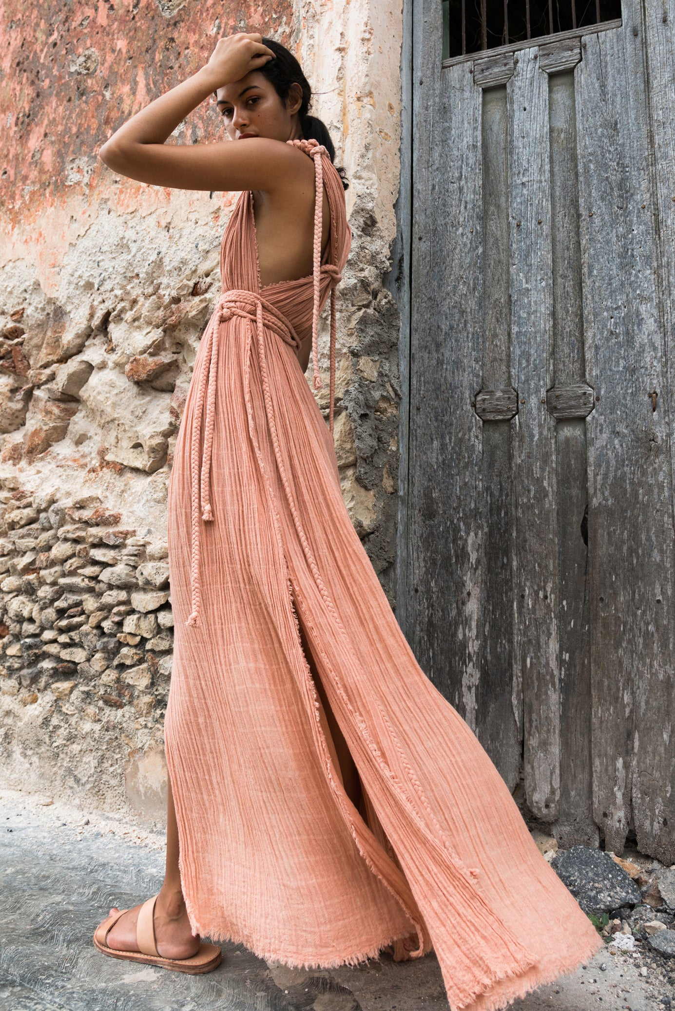 beach dress kaftan tulum long image rose