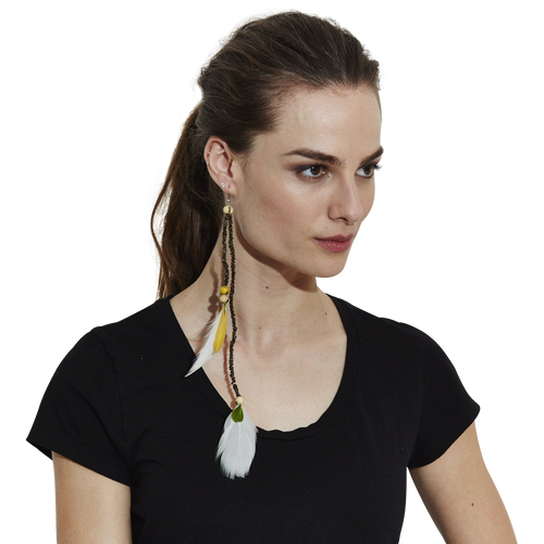 PATAXO FEATHER EARRING - NOMADIC