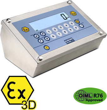 """DFWATEX3D"": WEIGHT INDICATOR FOR ATEX 22 ZONES"