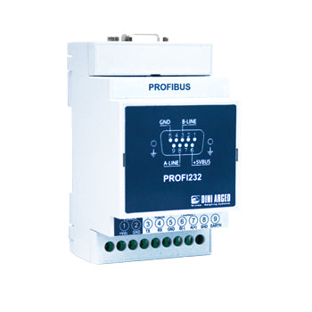 PROFI232 EXTERNAL PROFIBUS INTERFACE IN CASE FOR DIN BAR, FOR