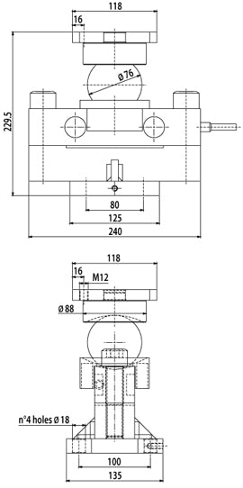 RSBT DOUBLE SHEAR BEAM LOAD CELLS