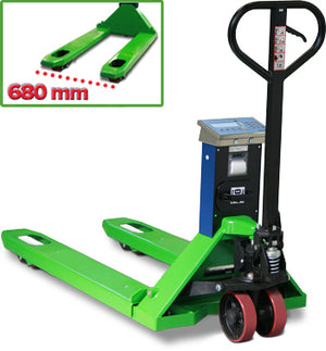 "TPWLKW ""LOGISTIC"" SERIES PALLET TRUCK SCALE WITH WIDE FORKS"