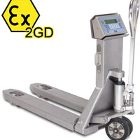 "TPWX2GDI ""HAZARDOUS ZONE"" SERIES STAINLESS STEEL ATEX PALLET TRUCK SCALE"