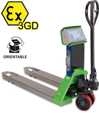 "TPWX3GD ""HAZARDOUS ZONE"" SERIES ATEX PALLET TRUCK SCALE"