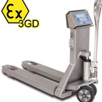 "TPWX3GDI ""HAZARDOUS ZONE"" SERIES STAINLESS STEEL ATEX PALLET TRUCK SCALE"