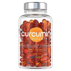 كبسولات الكركم وفيتامين د 60 كبسولة - Weight World  Curcumin With Vitamin D Capsules 60's