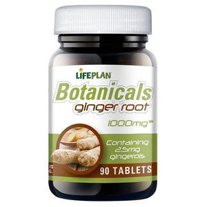 خلاصة جذور الزنجبيل 90 قرص - Life Plan Botanicals Ginger Root 1000 mg 90 Tablets