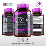 بيوتين 10000 ميكروجرام 365 قرص - Nutravita Biotin 10,000 With Coconut Oil Tablets 365's