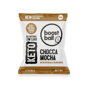كرات بوست بول شوكولاتة موكا سناك كيتو 40 جم 12 كيس - Boost Ball Chocca Mocha Keto Protein Balls 40 g 12 Packs
