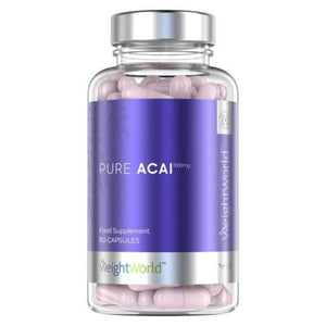 أساي بيري 1500 مجم 60 كبسولة - Weight World Pure Acai 1500 mg Capsules 60's