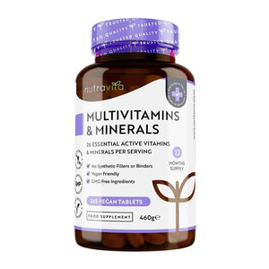 مالتي فيتامين نيوتريفيتا - Nutravita Multivitamins & Minerals - Vegan Multivitamin Tablets 365s'