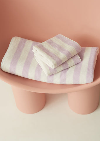 Aeyre - Towel Set - Narrow Stripe Lilac