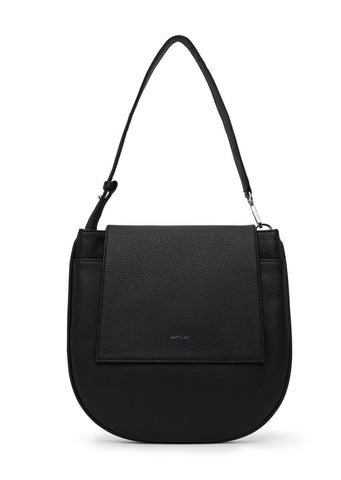 Match Purity Handbag - Black Vegan Leather