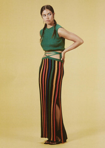 Andean Collective - Loretta Tie Skirt - Rainbow