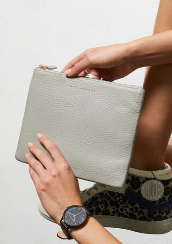 Fake it Clutch - Light Grey