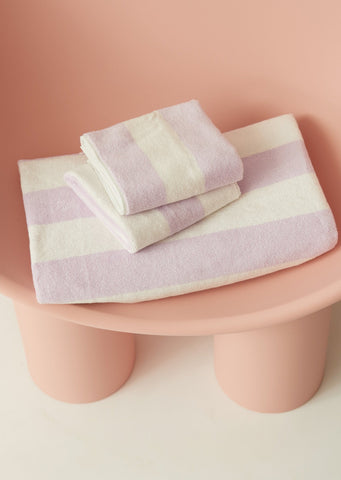 Aeyre - Towel Set - Wide Stripe Lilac