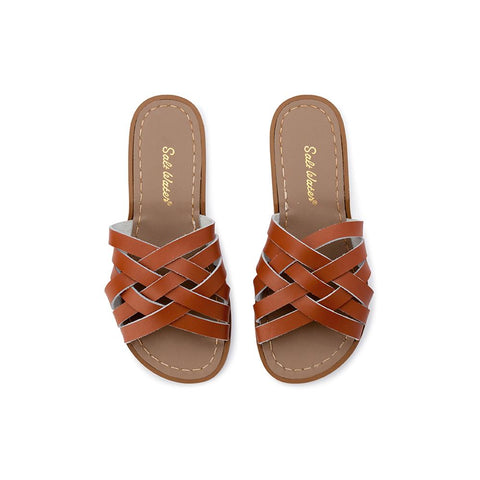 Retro Saltwater Slides - Tan - Scout Newcastle