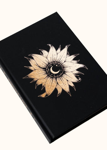 Dreamy Moons - Sunflower - Blank Lined Journal