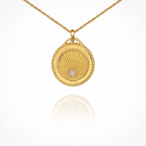 Aadi Necklace - Gold with Opal