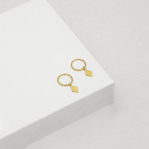 A New Dawn Sleeper Hoop Earrings - Gold Plated