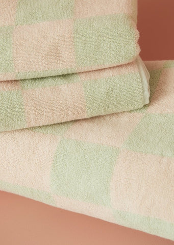 Aeyre - Towel Set - Big Check Mint
