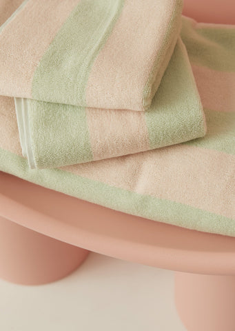 Aeyre - Towel Set - Wide Stripe Mint