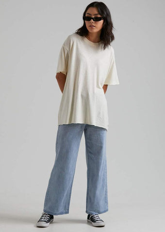 Afends - Slay Oversized Hemp Tee - Cream