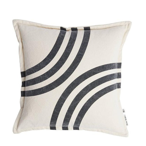 River Bends Cushion with Inner - Dark Shadow / Oats
