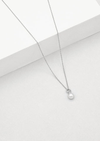 Cleo Pearl Necklace - Sterling Silver