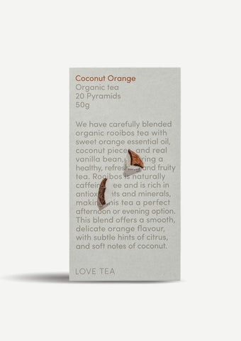 Coconut & Orange Tea - 20 Pyramid Teabags