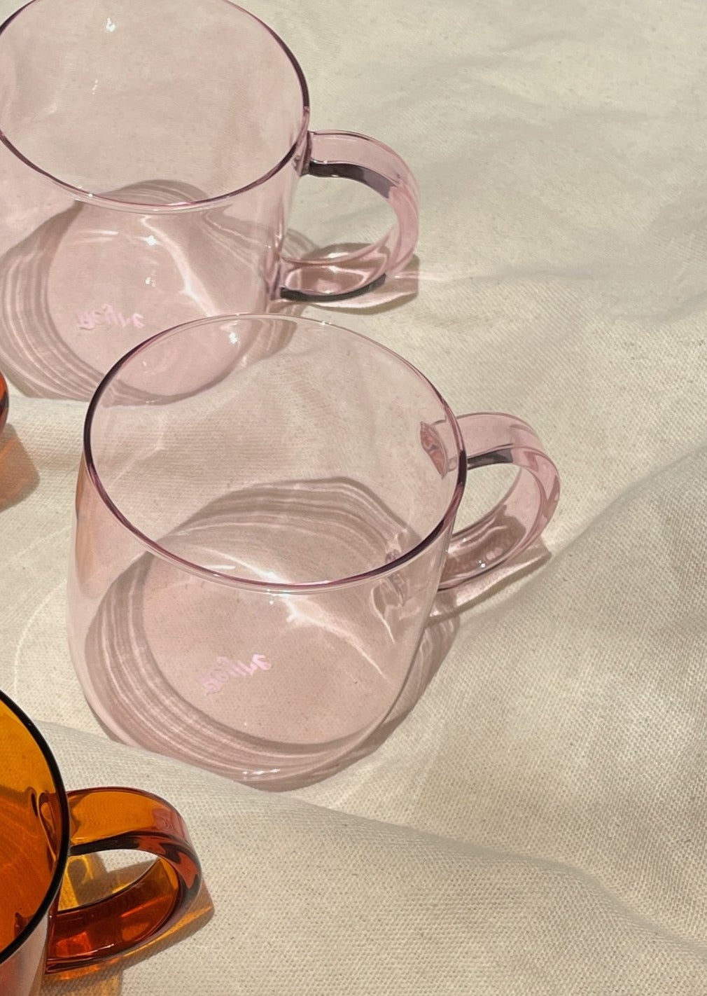 Aeyre - Coro Glass Cup Set in Pink