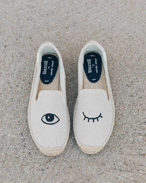 Wink Embroidery Slipper - Sand