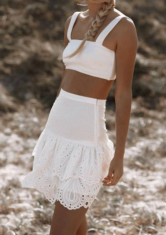 Flo Mini Skirt - Off White