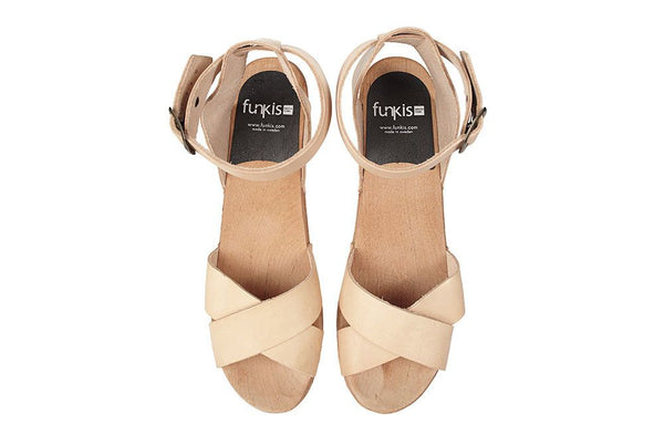 Funkis - Amy High Clog - Veggie Dye Natural