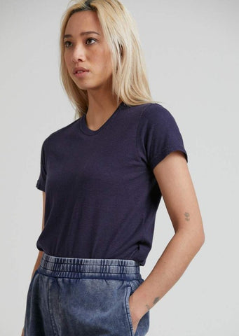 Afends - Hemp Basics Standard Fit Tee - Navy