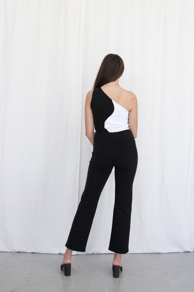 Rib Trousers - Black