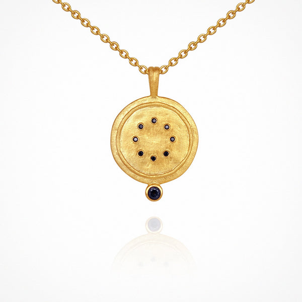 Issi Necklace - Gold with Sapphire