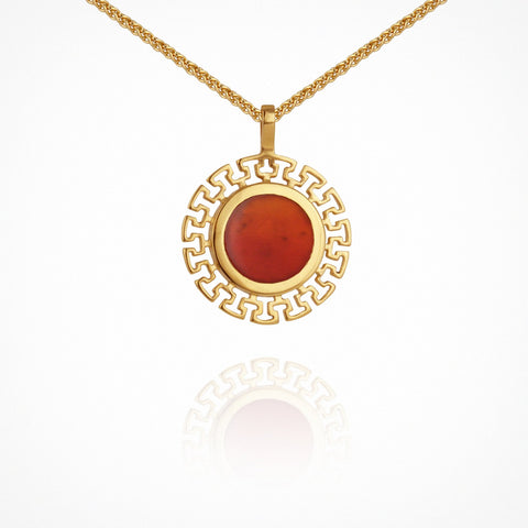 Kosmos Necklace - Gold with Carnelian