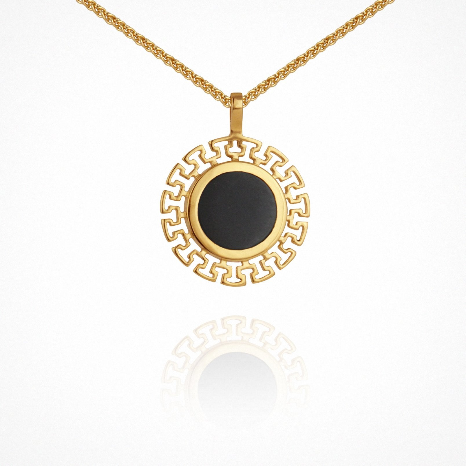 Kosmos Necklace - Gold with Onyx