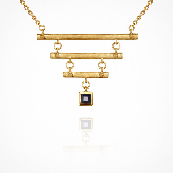 Ma Necklace - Gold with Sapphire