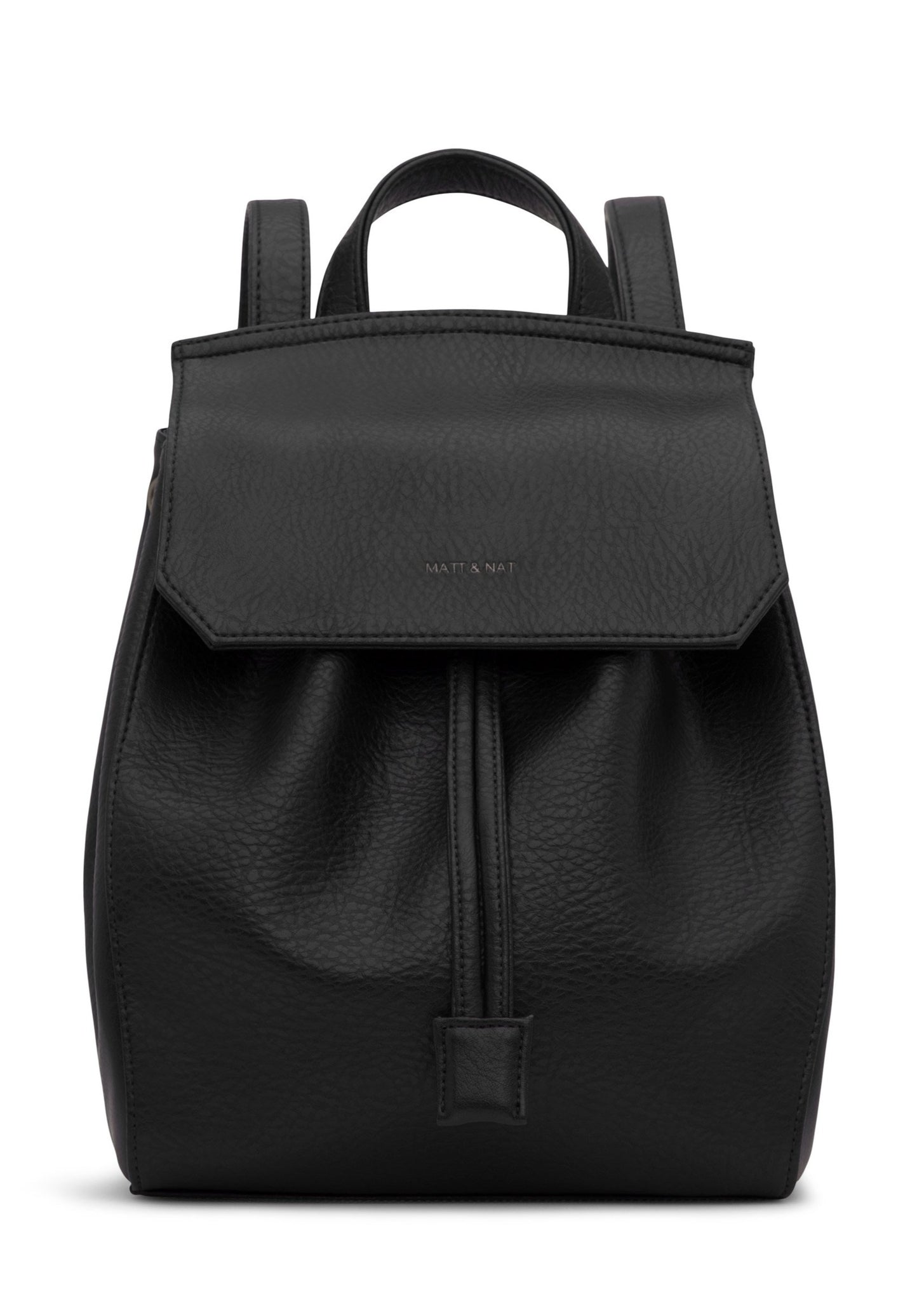 Matt & Nat - Mumbai Dwell Backpack - Black Vegan Leather